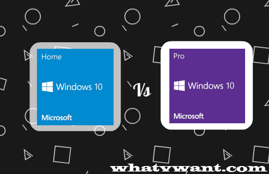 microsoft windows 10 home vs pro