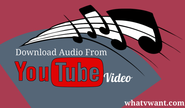 3 Simple Ways To Download Audio From Youtube Video Whatvwant