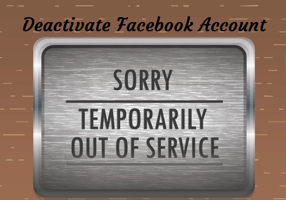 temporarily suspend facebook account