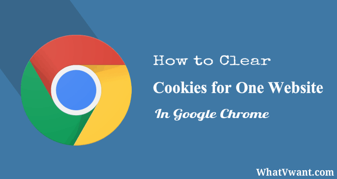 Chrome clear cookies for one site