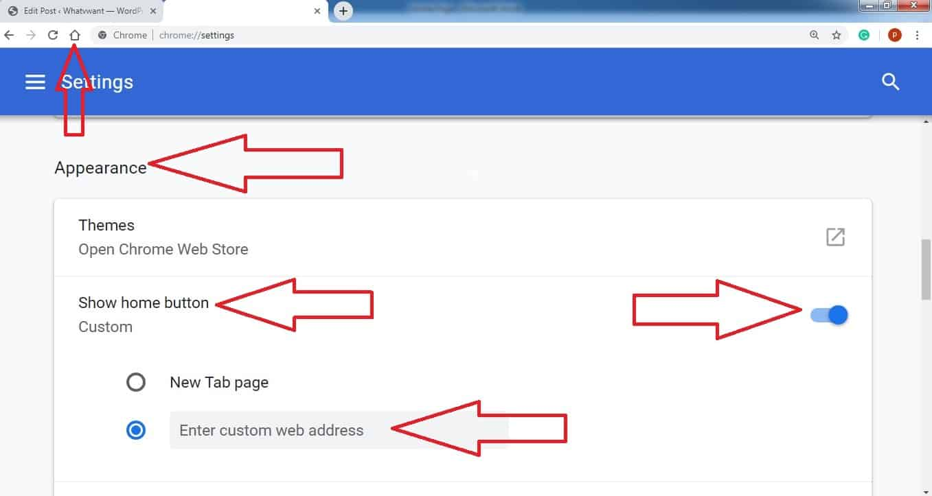 How To Change Or Set Homepage In Google Chrome - Whatvwant