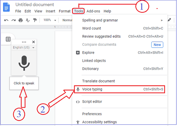 Google Docs-Activating-Speech-to-text-Conversion